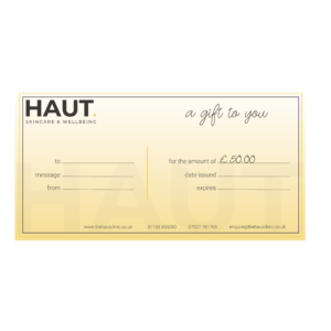 The Haut Clinic 50 Voucher - Menston, Ilkley